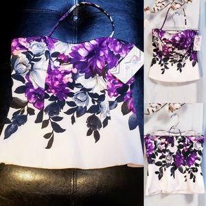 🆕White House Black Market Floral Corset size 0💕
